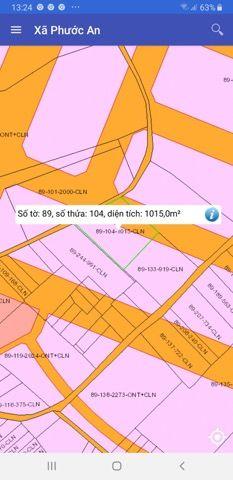 Đất Phước An 1015 m2 màu hồng